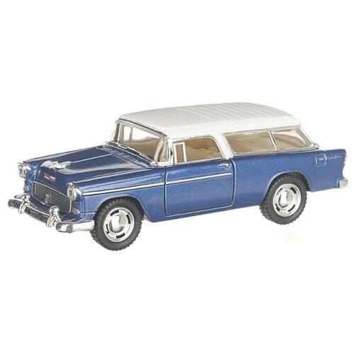 Купить Детская инерционная металлическая машинка с открывающимися дверями, модель Chevrolet Nomad, синий, белый, Serinity Toys, Машинки и техника