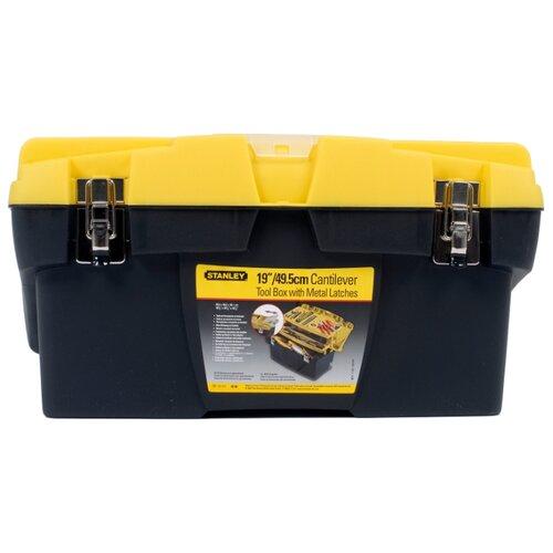 Ящик с органайзером STANLEY Mega Line CantiLever 1-92-911 49.5x26.1x26.5 см черный/желтый ящик с органайзером stanley stst1 70317 55 6x32x24 9 см 19 черный