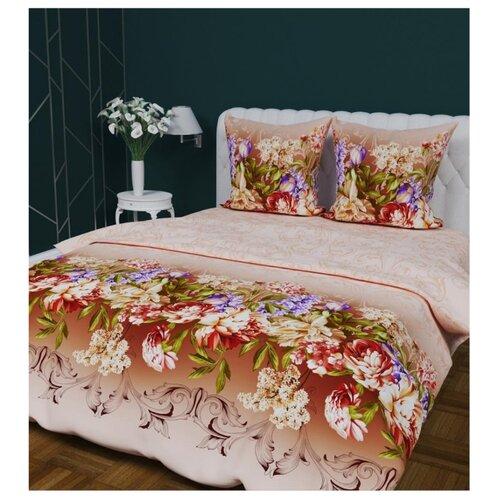 цена Постельное белье евростандарт Текстильная лавка Живописные цветы 70 x 70 бязь онлайн в 2017 году