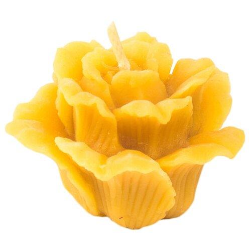 Свеча LipkoSladko Роза малая, 4 см желтый