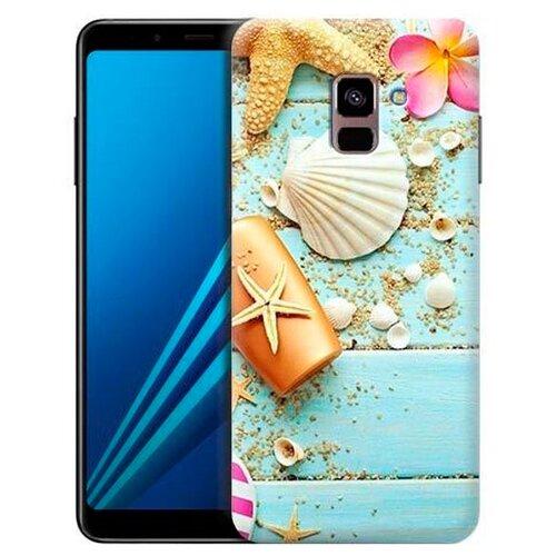 Чехол Gosso 697469 для Samsung Galaxy A8 Plus (2018) пляжный натюрморт чехол накладка для samsung galaxy s9 plus со стразами gosso cases