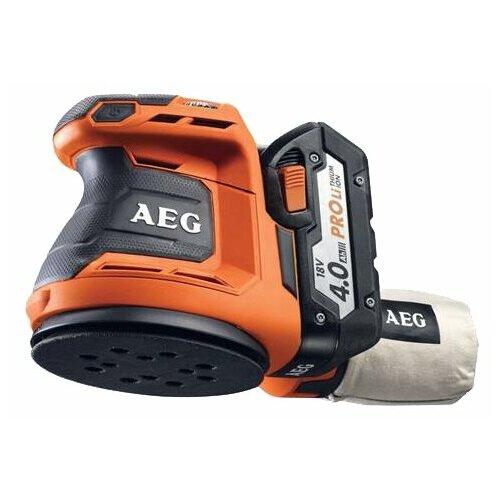 цена на Эксцентриковая шлифмашина AEG BEX 18-125 Li-402C 4.0Ач х2 кейс