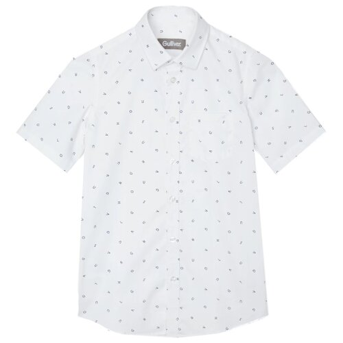 Купить Рубашка Gulliver размер 134, белый, Рубашки