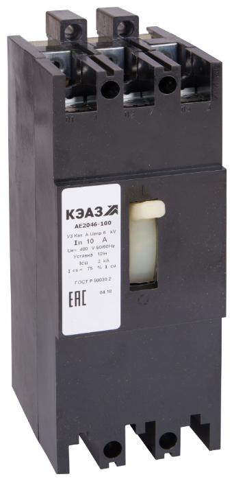 Автоматический выключатель КЭАЗ АЕ2046-100 3P 2kA
