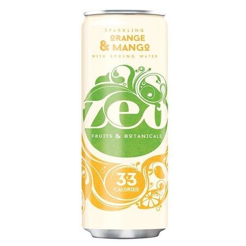 Газированный напиток ZEO Orange & Mango, 0.33 лЛимонады и газированные напитки<br>