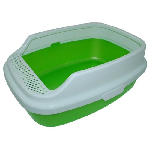 Туалет-лоток для кошек Homecat De Luxe 53х39х23 см зеленый перламутр туалет лоток для кошек homecat 3519509 3519547 3519486 3519561 37х27х8 см зеленый 1 шт