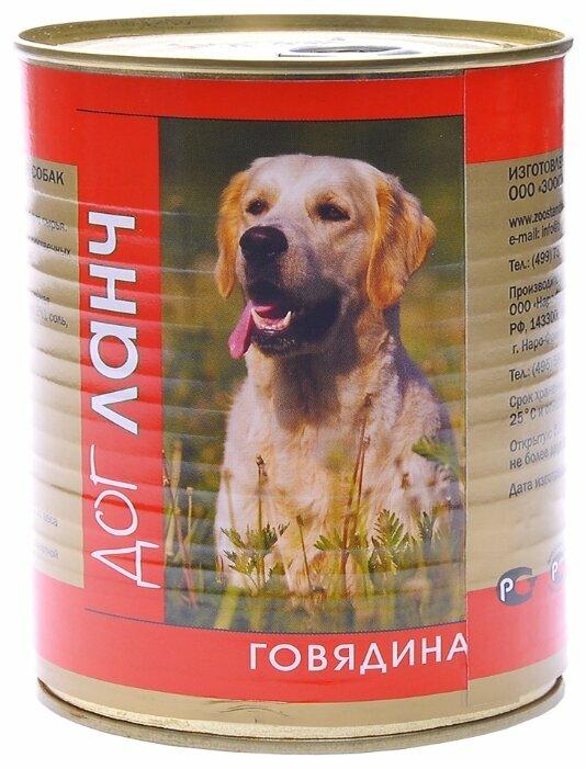 Корм для собак Dog Lunch Говядина в желе для собак (0.75 кг) 9 шт.
