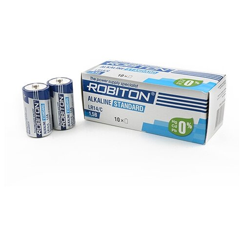 Фото - Батарейка ROBITON Alkaline Standart LR14/C, 10 шт. батарейка c ergolux lr14 alkaline bl 2 lr14 bl2