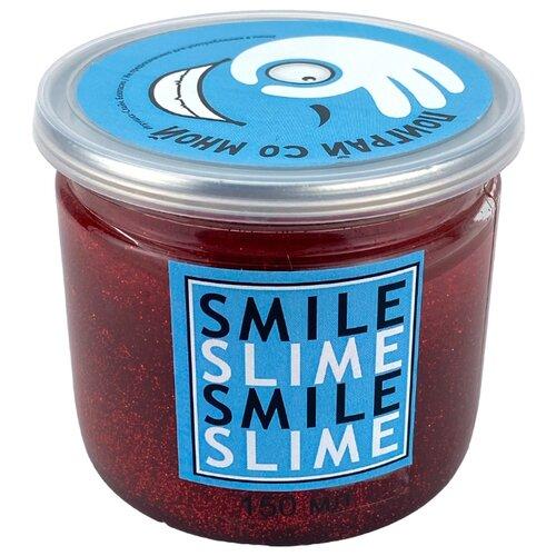 Купить Жвачка для рук Smile Slime с блестками красный, Игрушки-антистресс