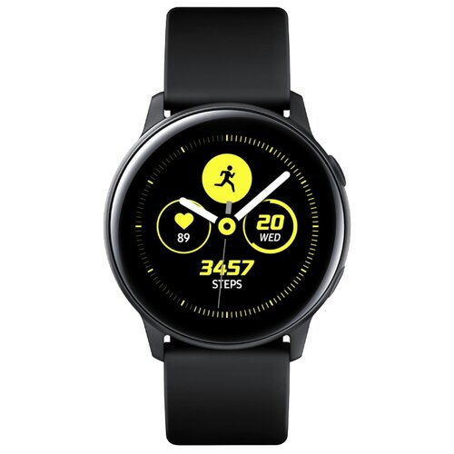 Часы Samsung Galaxy Watch Active черный сатин часы samsung galaxy watch active sm r500n зелёный