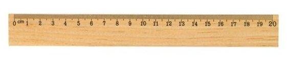 Action! Линейка деревянная 20 см (AWR20)