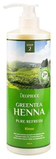 Deoproce ополаскиватель Greentea Henna Pure Refresh