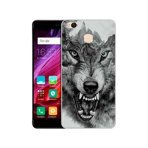 Купить Чехол Gosso 625078 для Xiaomi Redmi 4X волк в горах