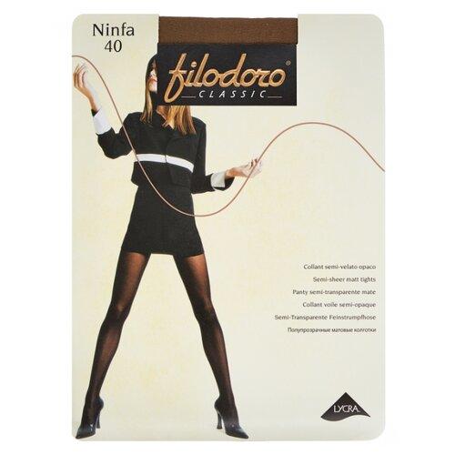 Колготки Filodoro Classic Ninfa 40 den, размер 3-M, glace (коричневый) колготки filodoro classic dora 20 den размер 3 m glace коричневый