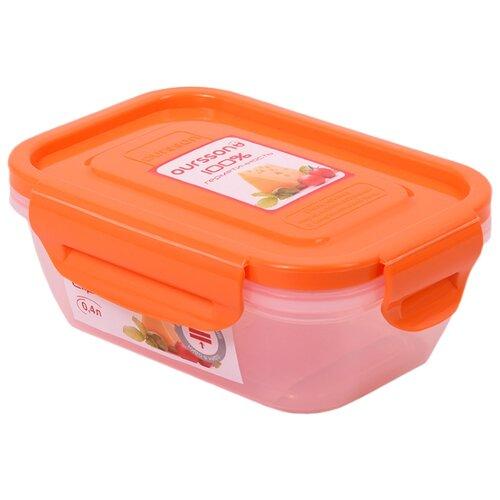 Oursson Контейнер CP0404S, оранжевый/прозрачный oursson контейнер cp1304s оранжевый прозрачный