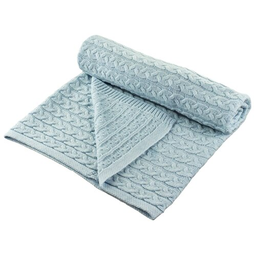 Купить Плед LEO Косы 90x100 голубой, Покрывала, подушки, одеяла