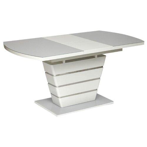 Стол кухонный TetChair Schneider 0704, раскладной, ДхШ: 120 х 80 см, длина в разложенном виде: 160 см, белый стол tetchair brugge mod edt ve001 120 150х80х75 см