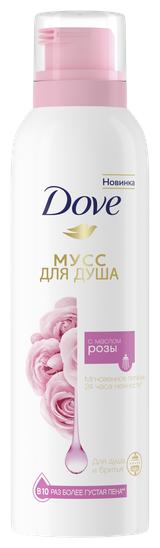 Мусс для душа Dove с маслом розы
