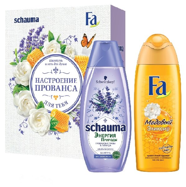 Набор Schauma Прованские Травы + FA Медовый