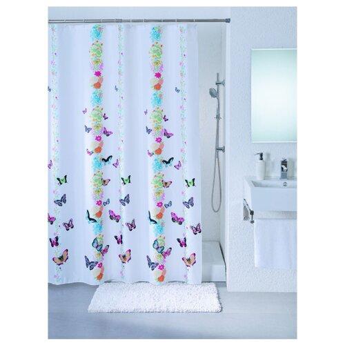 Штора для ванной Bath Plus Butterfly Show 180х200 белый