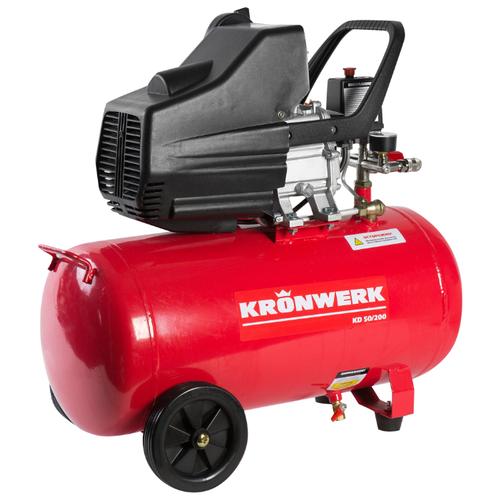 Фото - Компрессор масляный Kronwerk KD 50/200, 50 л, 1.5 кВт компрессор масляный fubag b5200b 200 ct4 200 л 3 квт