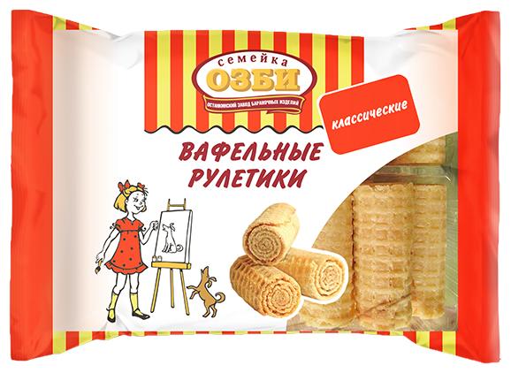 Вафельные рулетики Классические фас. 150г.