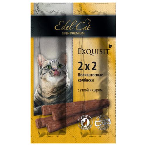 Лакомство для кошек Edel Cat Мини-колбаски Утка с сыром, 2г х 4шт. в уп. 8 г