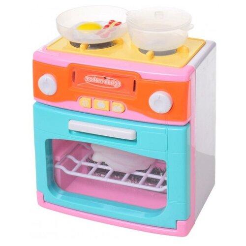 Плита TONG DE XS-18067-1 голубой/розовый/желтый/оранжевыйДетские кухни и бытовая техника<br>