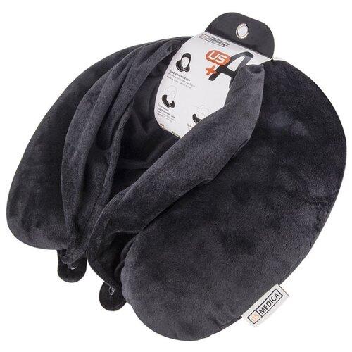 us Подушка для шеи US Medica US-A Plus с капюшоном, черный