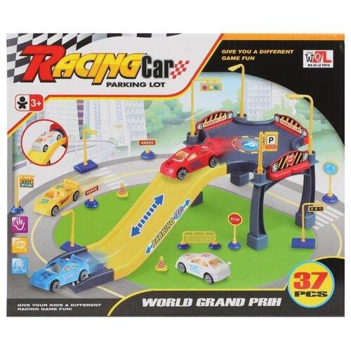 Купить Waqile Toy P668-30 желтый/красный/серый, Детские парковки и гаражи