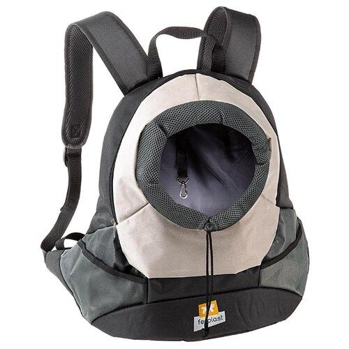 Рюкзак-переноска для собак Ferplast Kangoo small 16х37х36 см серый