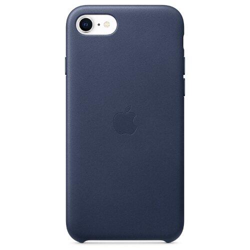Чехол Apple кожаный для Apple iPhone SE (2020) темно-синий темно синий стиль pu кожаный бумажник держателя карты откидная крышка чехол дляsamsung a510