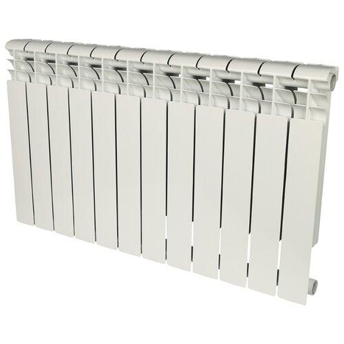 Радиатор секционный алюминий ROMMER Profi AL 500 x12 подключение универсальное боковое RAL 9016 биметаллический радиатор rifar рифар b 500 нп 10 сек лев кол во секций 10 мощность вт 2040 подключение левое