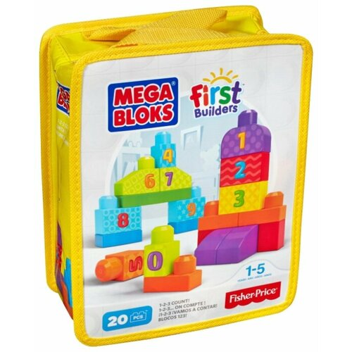 Конструктор Mega Bloks First Builders DLH85 Посчитай