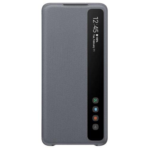 Чехол-книжка Samsung EF-ZG985 для Galaxy S20+, Galaxy S20+ 5G серый чехол книжка samsung galaxy a40 ef wa405p black