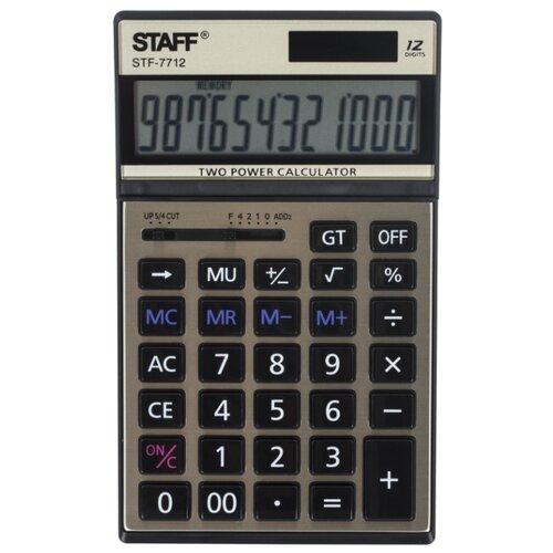 Калькулятор бухгалтерский STAFF STF-7712 золотистый bicycle format 7712 27 5 21 ic height m 2017 2018