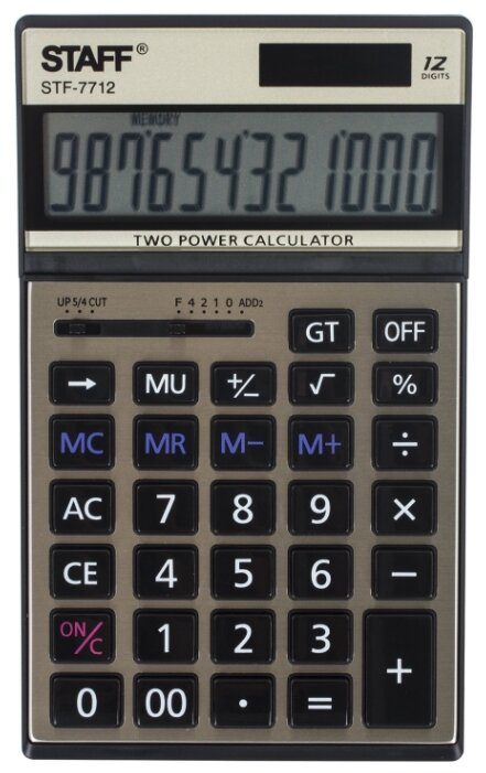 Калькулятор бухгалтерский STAFF STF-7712