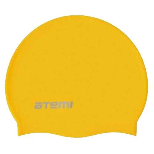 Фото - Шапочка для плавания ATEMI SC107, желтый аксессуары для плавания atemi шапочка для плавания графика psc422
