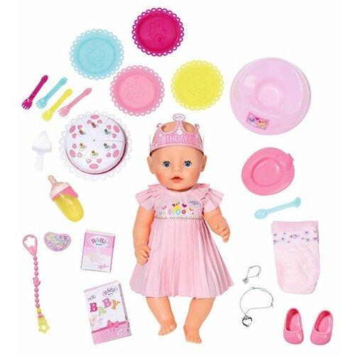 Интерактивная кукла Zapf Creation Baby Born Нарядная с тортом, 43 см, 825-129, Куклы и пупсы  - купить со скидкой