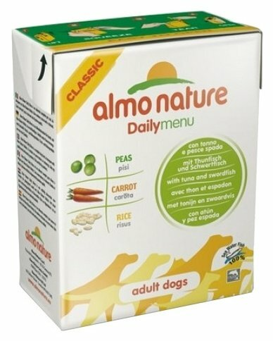 Корм для собак Almo Nature Daily Menu тунец, меч-рыба 375г