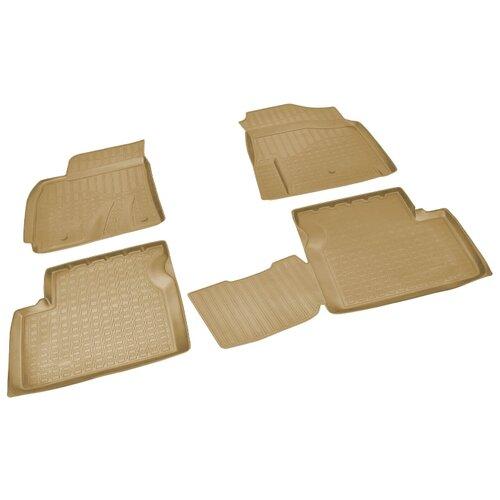 Комплект ковриков NorPlast NPA01-C11-700 4 шт. бежевый
