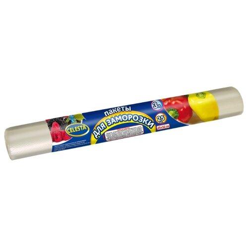Пакеты для замораживания Celesta для заморозки, 32 см х 25 см, 3 л, 25 шт пакеты бумажные lefard елка 512 526 32 х 26 х 12 см 12 шт