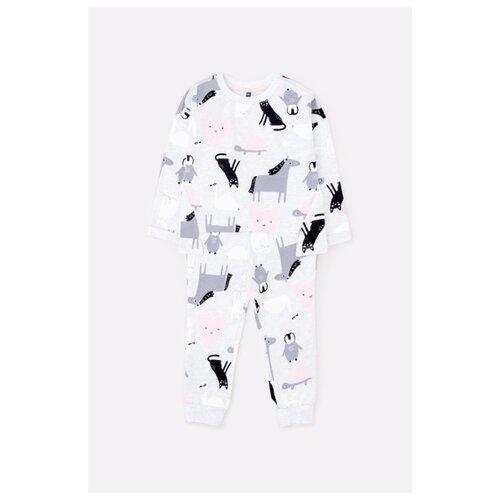Купить Комплект одежды crockid размер 74, светло-серый меланж/друзья, Комплекты
