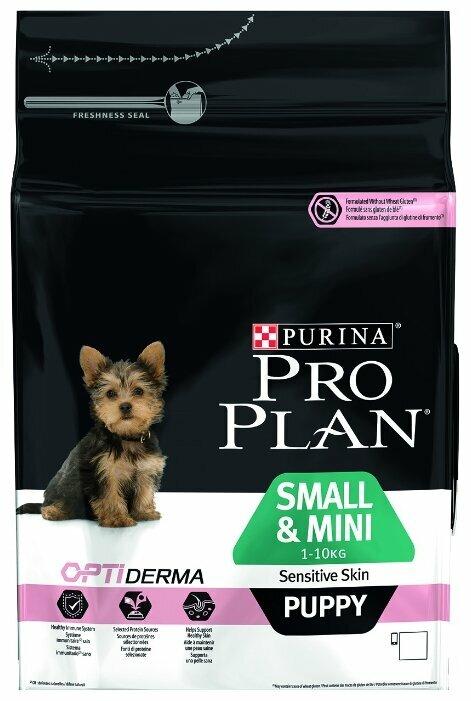 Корм для щенков Purina Pro Plan Optiderma для здоровья кожи и шерсти, лосось с рисом 7 кг (для мелких пород)