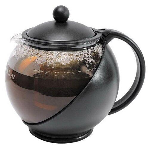 Taller Заварочный чайник Алан TR-1349 1,25 л, черный/прозрачный