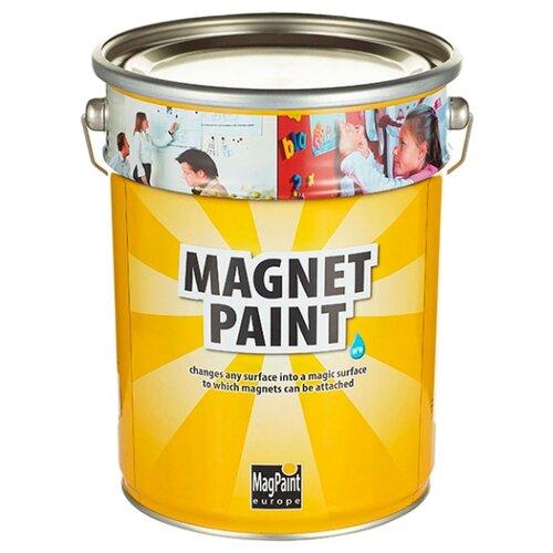 Краска латексная MAGPAINT Магнитная краска для детской матовая темно-серый 5 л