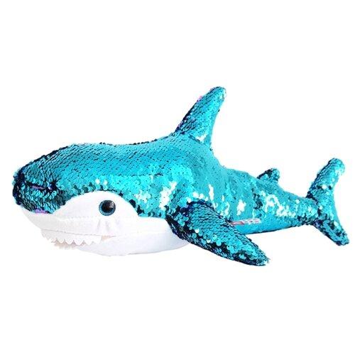 Мягкая игрушка Fancy Акула блестящая 47 см мягкая игрушка fancy акула 98 см
