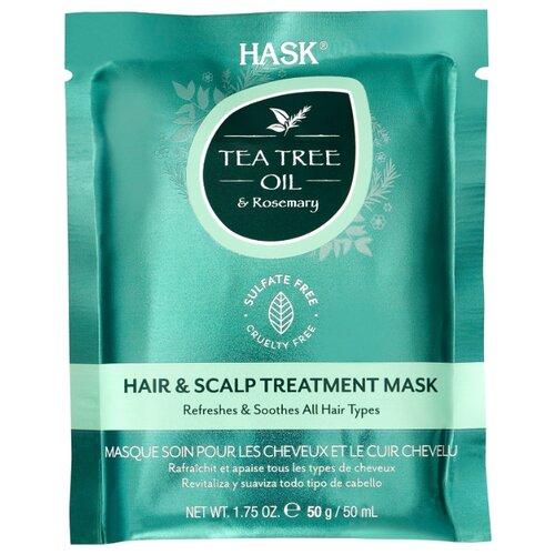 Купить Hask Tea Tree Oil & Rosemary Маска для волос с маслом чайного дерева и экстрактом розмарина, 50 мл