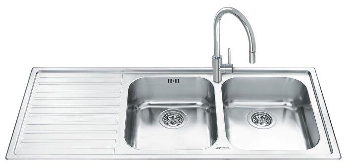 Врезная кухонная мойка smeg LM116S-2