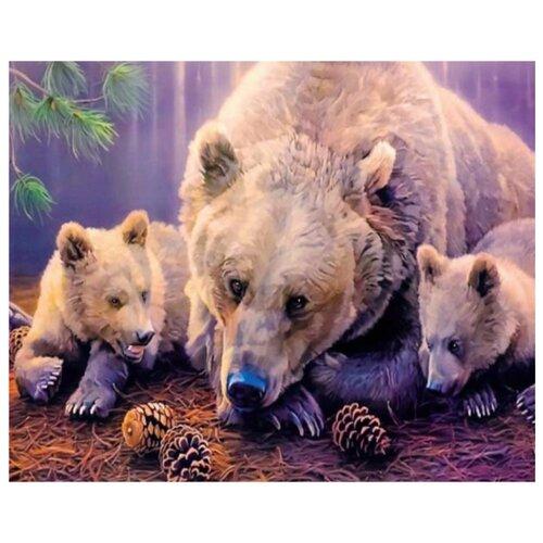 Купить ВанГогВоМне Картина по номерам Три медведя , 40х50 (ZX 21675), Картины по номерам и контурам